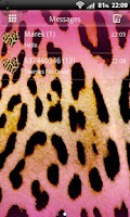 Screenshot of GO SMS Pro Pink Leopard Theme