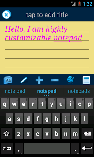 Droidpad: notes taking app
