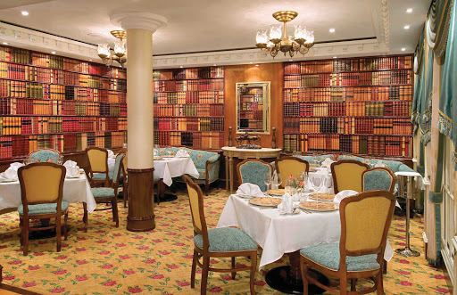 Norwegian-Pride-Of-America-Dining-Jefferson's-Bistro - Inspired by Thomas Jefferson's home and library, Jefferson's Bistro located on deck 5 of Norwegian's Pride of America specializes in French cuisine.