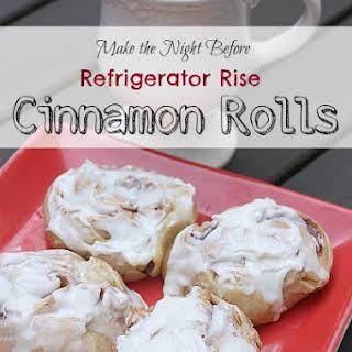 Overnight Refrigerator Rise Cinnamon Rolls.