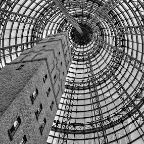 Coop's Shot Tower by John Williams - Black & White Buildings & Architecture ( melbourne, australia )