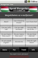 Screenshot of Speak Hungarian Free