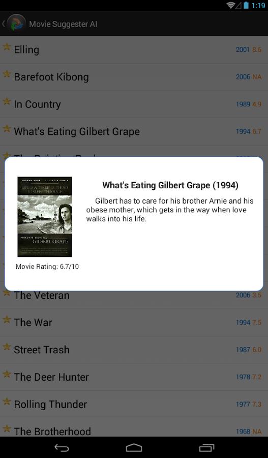 Movie Suggester AI - screenshot