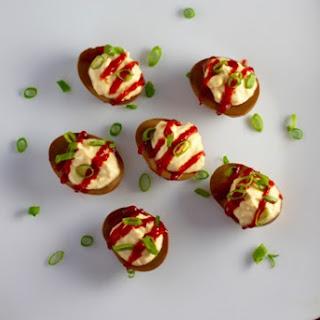 Soy Sriracha Deviled Eggs.
