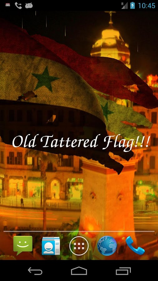 3D Syria Flag Live Wallpaper- screenshot
