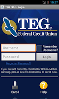 Screenshot of TEG Federal Credit Union
