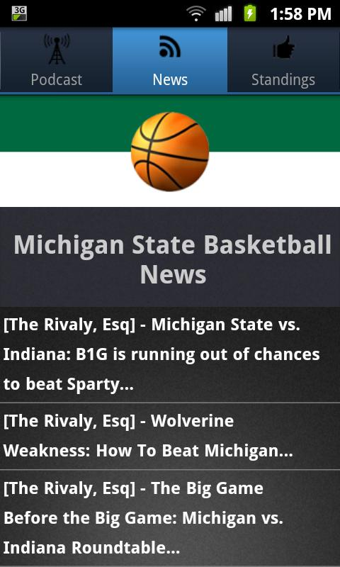 Michigan State Basketball - screenshot
