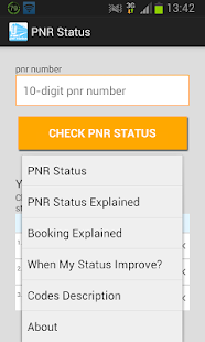 PNR status- screenshot thumbnail