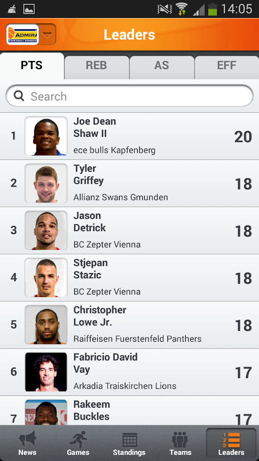 Admiral Basketball Bundesliga- screenshot