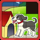 Slide Animal Puzzle para Niños icon