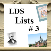 LDS Lists #3 (Mormon)
