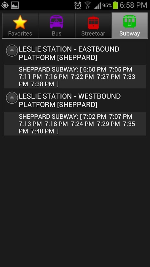 SmartTransit- screenshot
