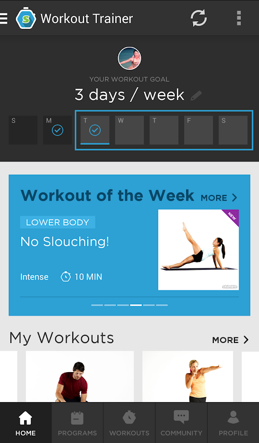 Workout Trainer - screenshot