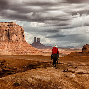 by Jim Salvas - Landscapes Caves & Formations ( monument valley, clouds )