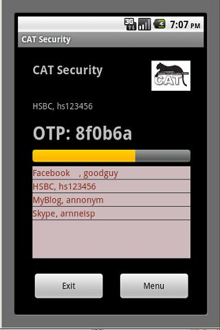 CAT Authentication Token- screenshot