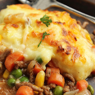 Shepherd's Pie with Alehouse Cheddar Mashed Potatoes.
