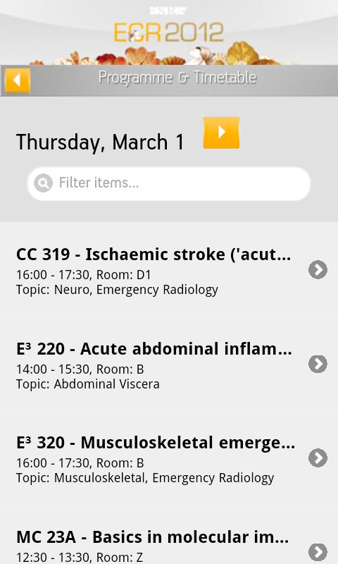 ECR 2012 - screenshot