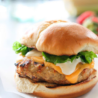 Cheddar Ranch Chicken Burgers.