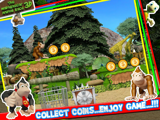 【免費動作App】The Madagascar Animal Race 3D-APP點子