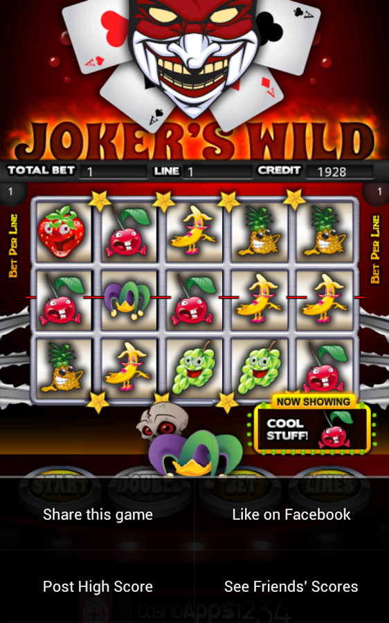 Jokers Wild Slot Machine HD- screenshot