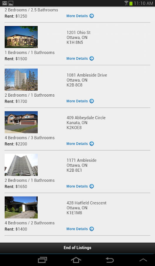 Rent In Ottawa - screenshot