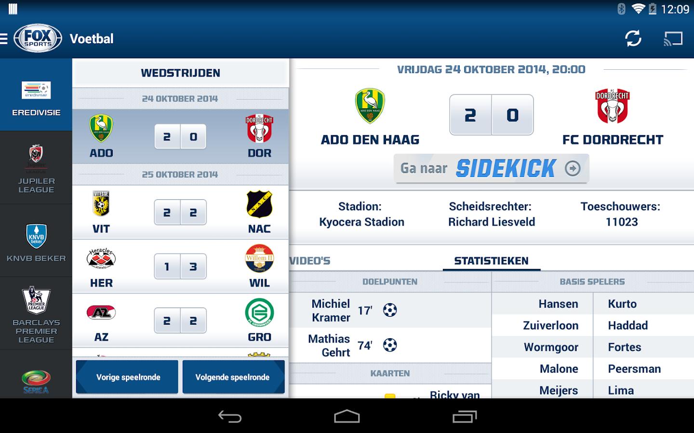 FOX Sports NL - screenshot