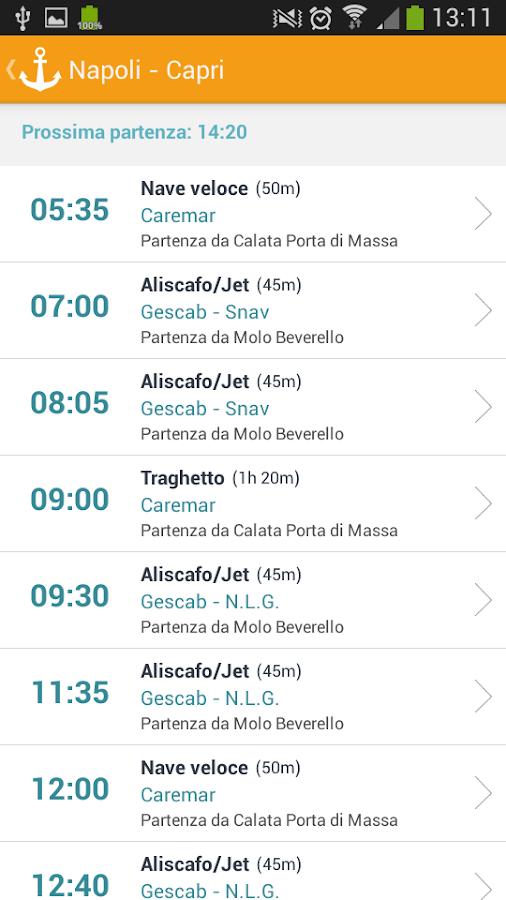 Capri Schedule - screenshot