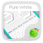 Pure White GO Keyboard Theme