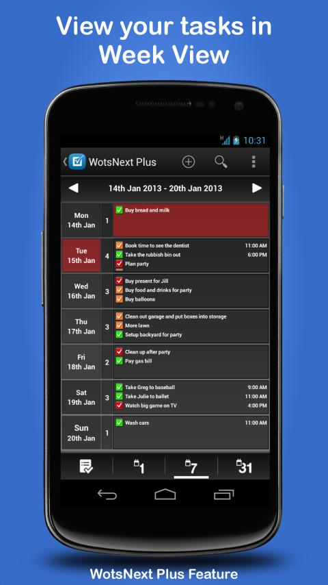 WotsNext - To-do / Task List - screenshot