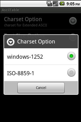 AsciiTable- screenshot