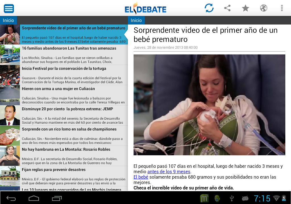 El Debate RSS - screenshot