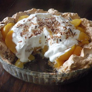 Four Generation Peach Pie with Coconut Meringue Crust