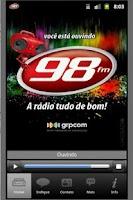 Screenshot of 98 FM Curitiba
