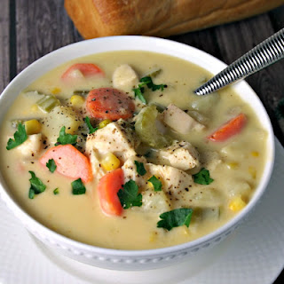Cheesy Chicken Vegetable Chowder