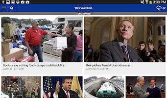 Screenshot of The Columbian