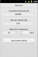 Screenshot of Calculadora Hipoteca