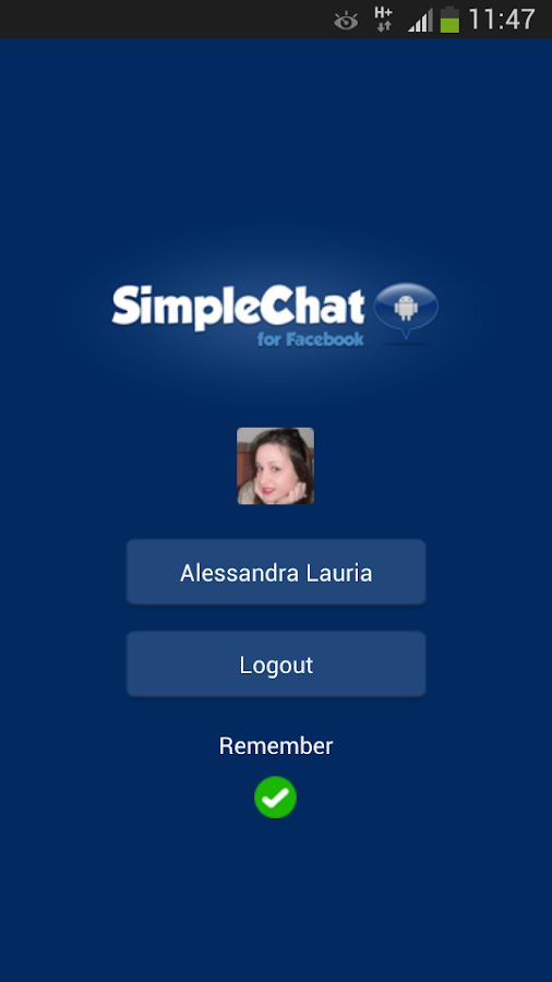 SimpleChat for Facebook (ads) - screenshot