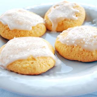 Lemon Pineapple Cake Mix Cookies with Pineapple Glaze.