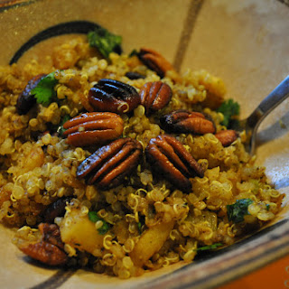 Curried Quinoa with Apples & Pecans