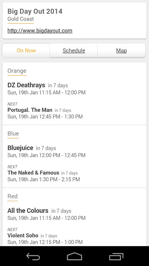 Big Day Out 2014 - screenshot