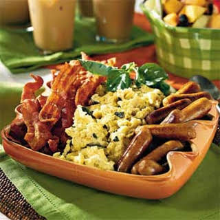 Cream Cheese Scrambled Eggs.