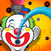 Clown Watergun Race!