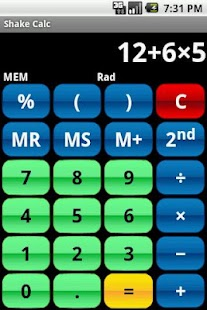 Shake Calc - Calculator- screenshot thumbnail