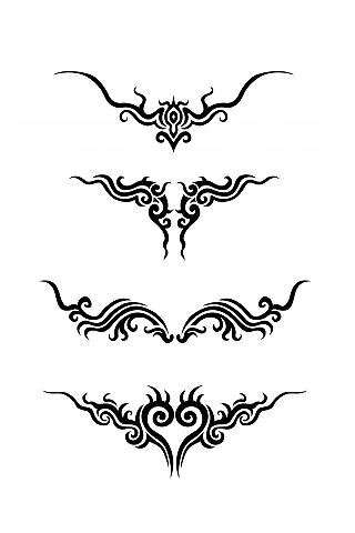 繪製紋身部落