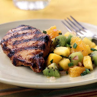 Grilled Chicken with Fruit Salsa.