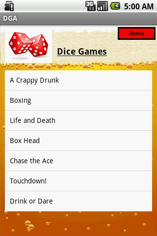 THE Drinking Game App - screenshot