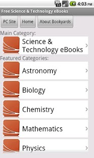 Science eBooks - screenshot thumbnail