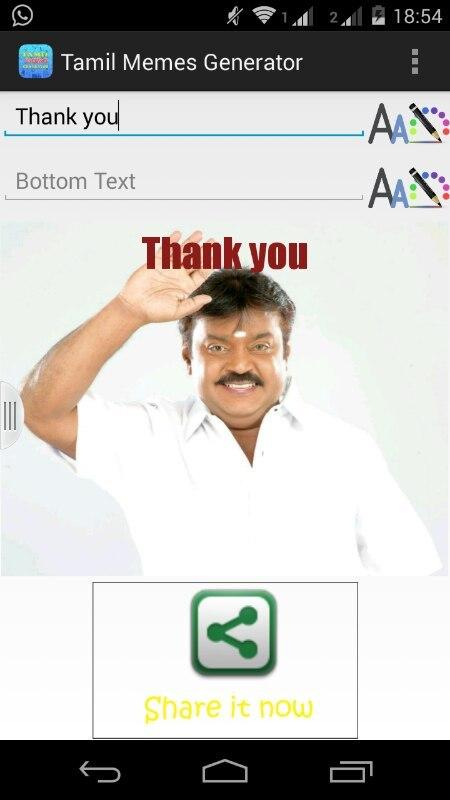 description the tamil meme creator allows you to create funny memes ...