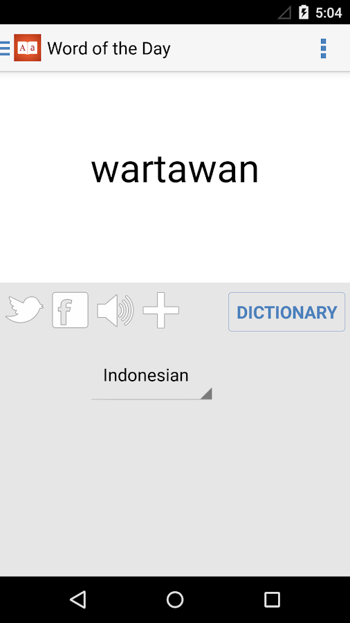 Indonesian Dictionary English Indonesian Translate- screenshot