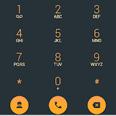 Dialer theme Droid L Orange